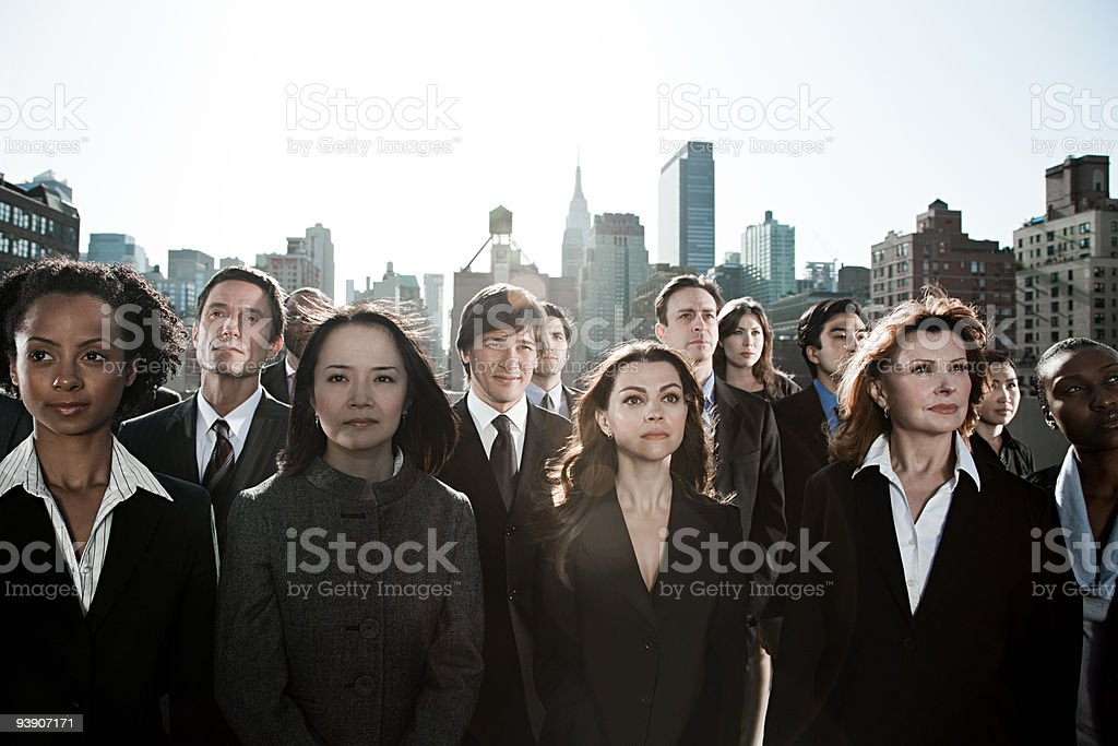 Businesspeople in city royalty-free stock photo