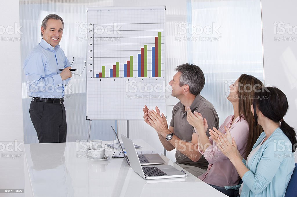 Businesspeople In Meeting stock photo