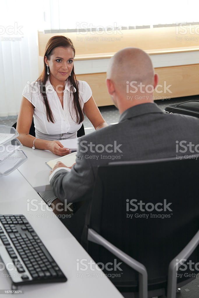 Businesspeople in office royalty-free stock photo