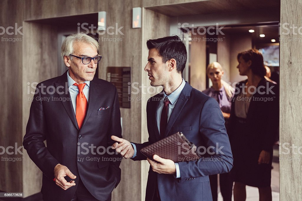 Businesspeople in the office stock photo
