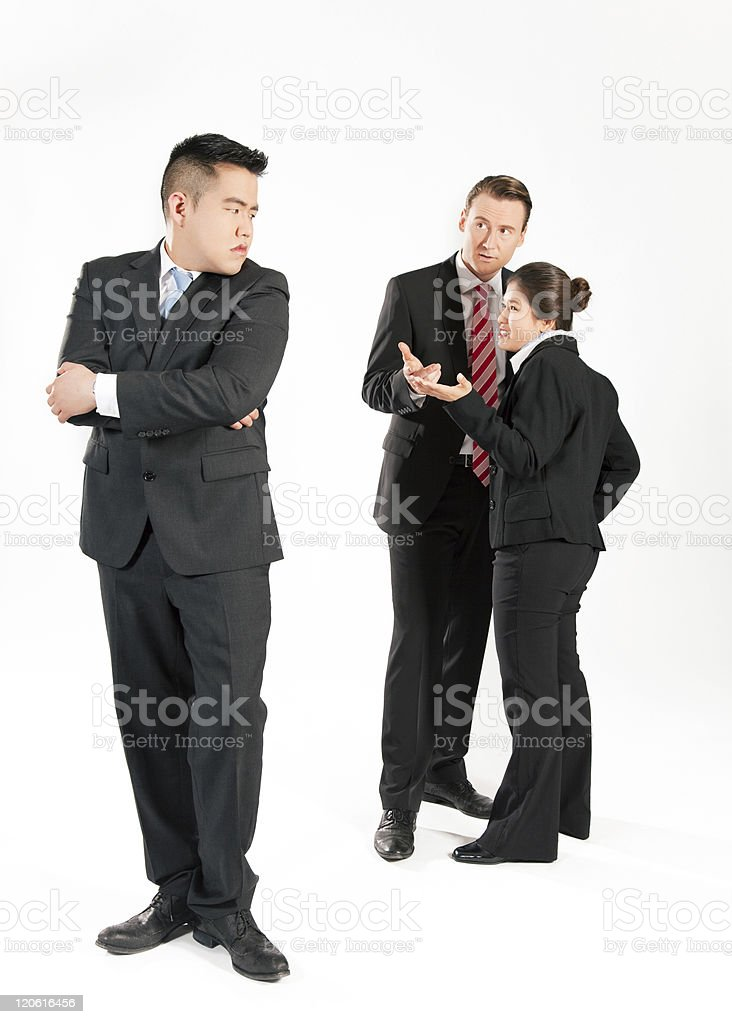 Businesspeople - Mobbing royalty-free stock photo