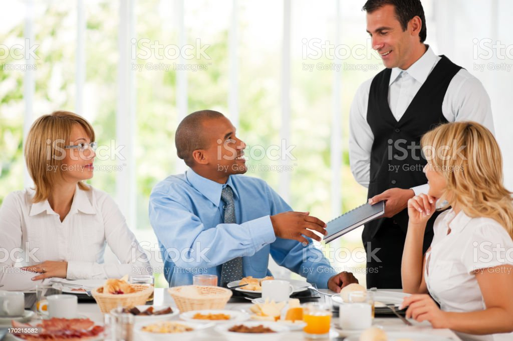 Businesspeople on a lunch break. royalty-free stock photo