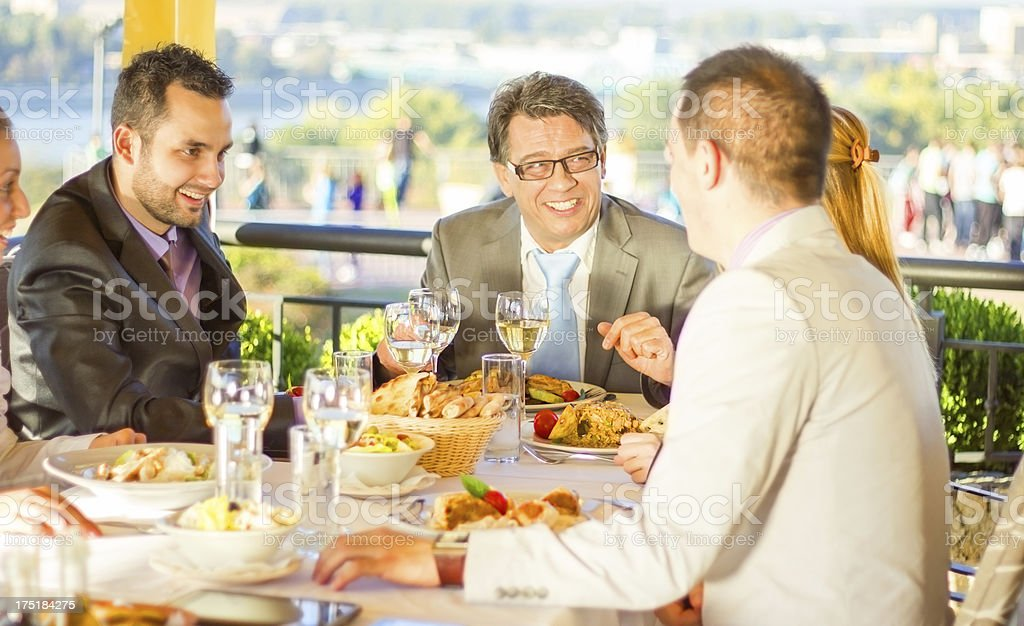 Businesspeople on lunch. royalty-free stock photo