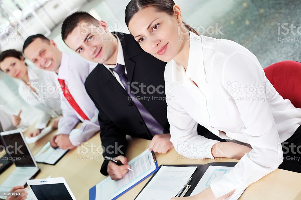 Businesspeople on workplace. royalty-free stock photo