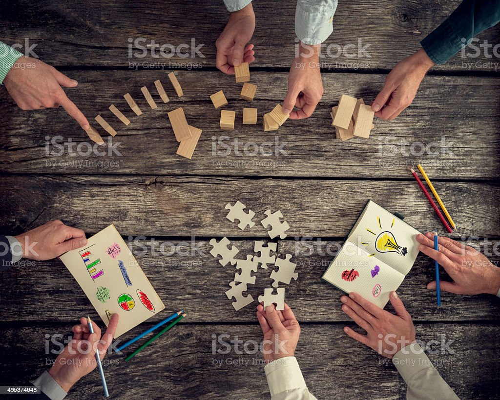 Businesspeople organizing business strategy stock photo