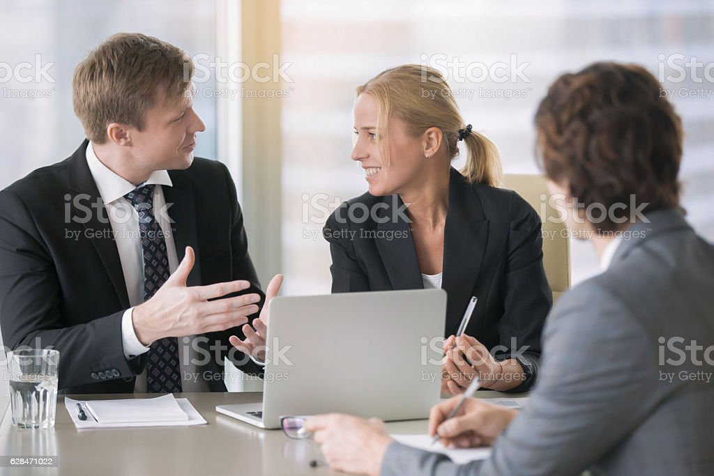 Businesspeople planning work stock photo