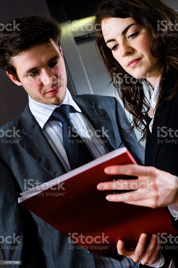 Businesspeople reading documents royalty-free stock photo