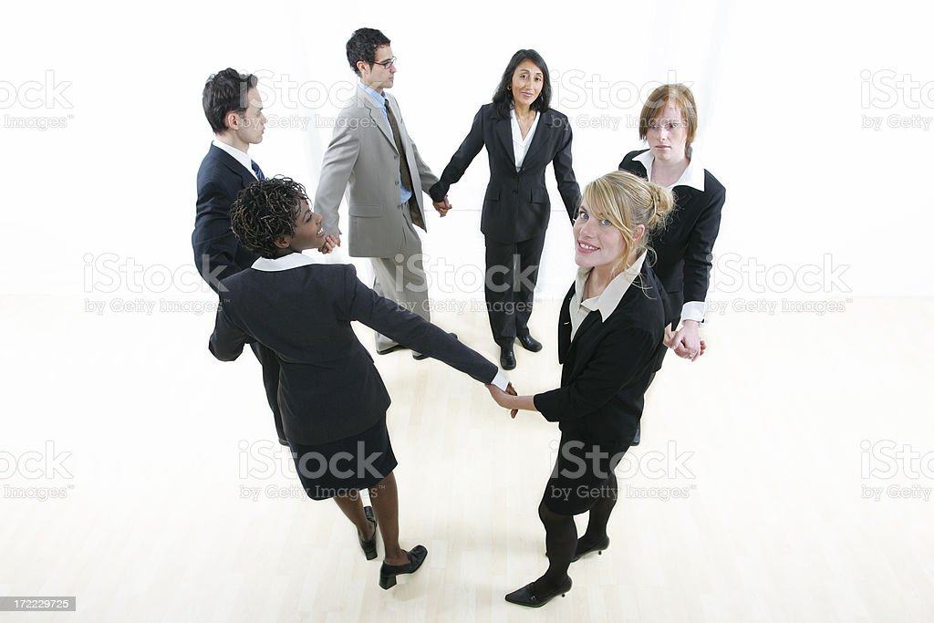 Businesspeople : Round dance royalty-free stock photo