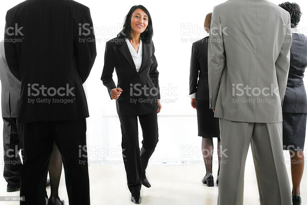 Businesspeople serie I : group IV stock photo