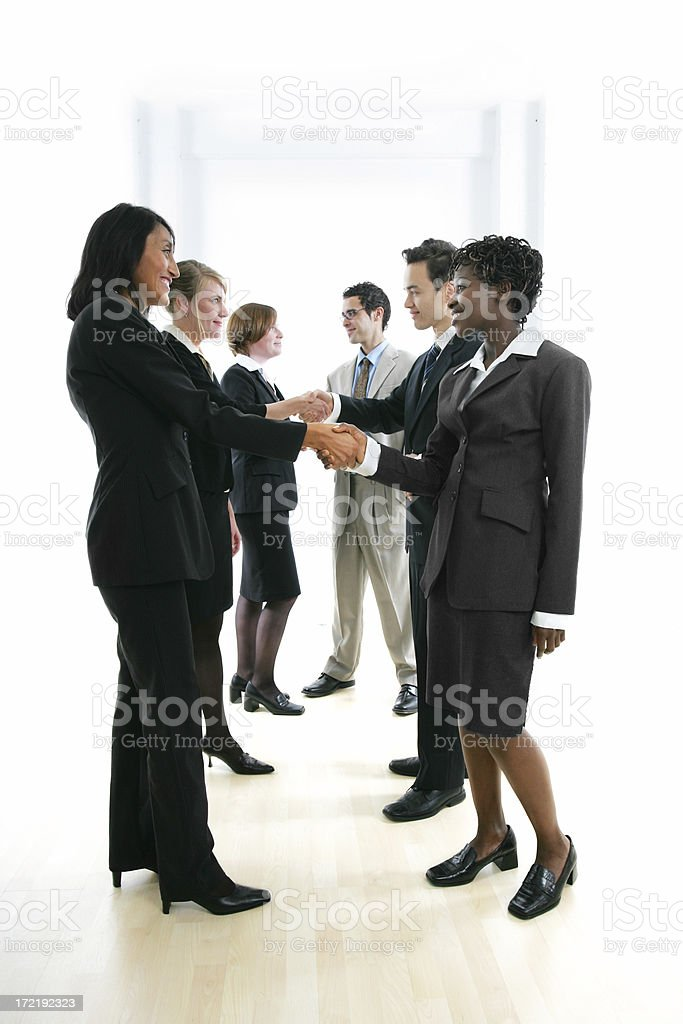 Businesspeople serie II : Deal I stock photo