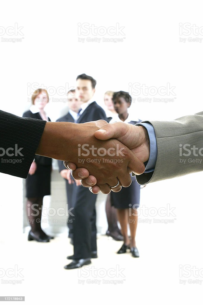 Businesspeople serie II : Deal royalty-free stock photo