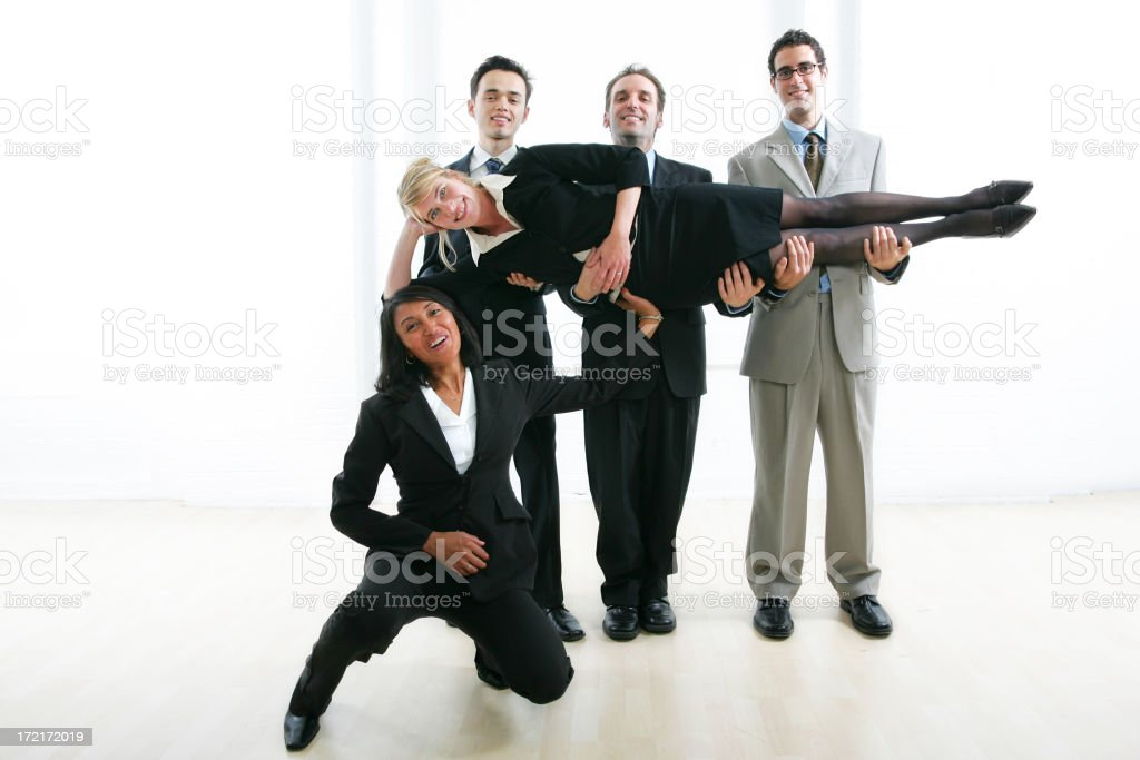 Businesspeople serie : She's the best stock photo