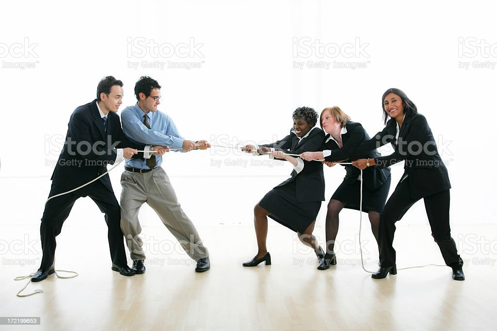 Businesspeople serie : Tug of War royalty-free stock photo