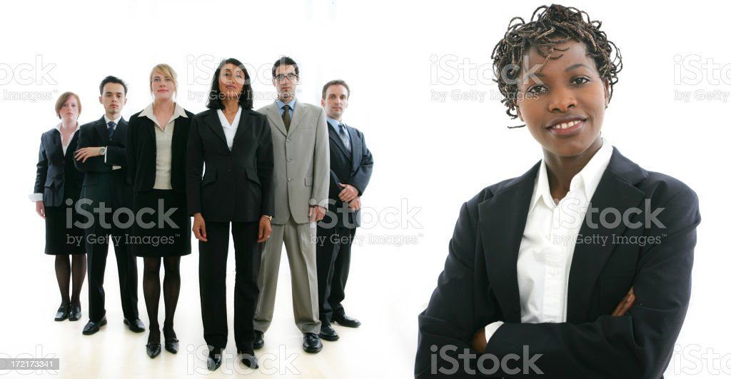 Businesspeople serie : Woman and her team III royalty-free stock photo