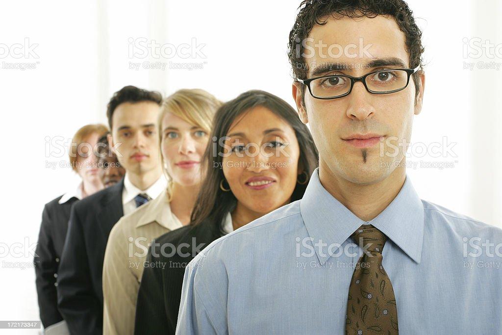 Businesspeople series : Teamwork IV royalty-free stock photo