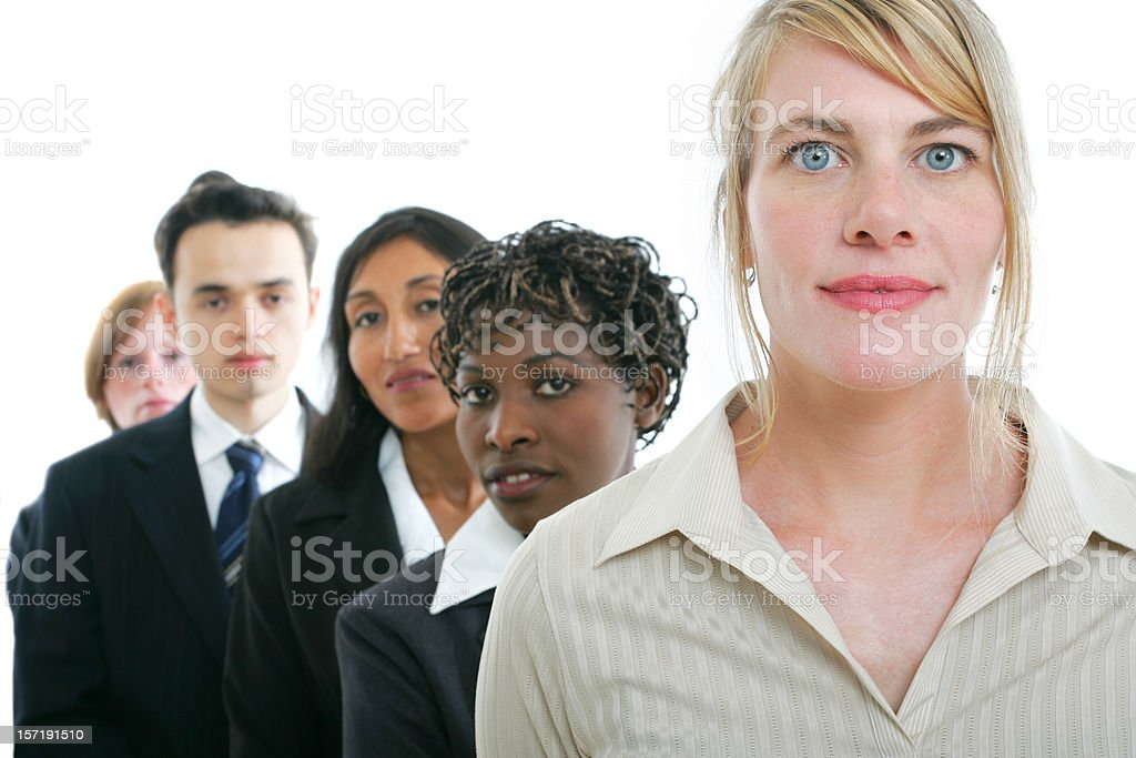Businesspeople series : Teamwork VI royalty-free stock photo