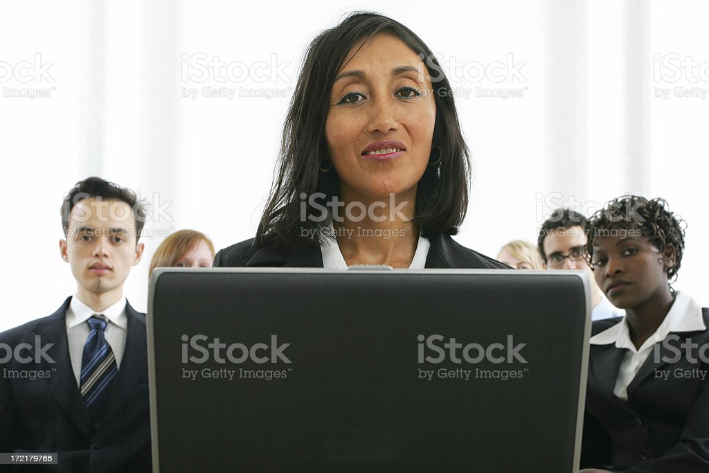 Businesspeople series : training IV royalty-free stock photo