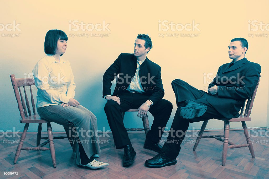 Businesspeople solving problems royalty-free stock photo