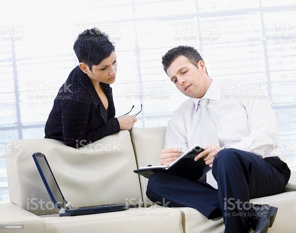 Businesspeople Talking royalty-free stock photo