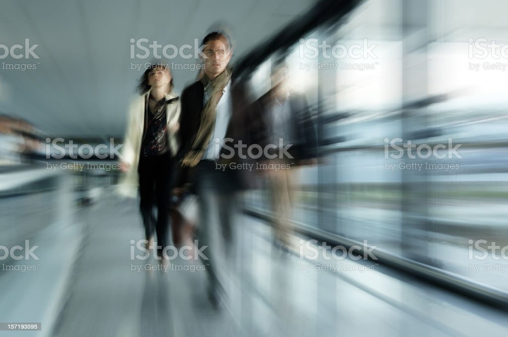 Businesspeople walking royalty-free stock photo