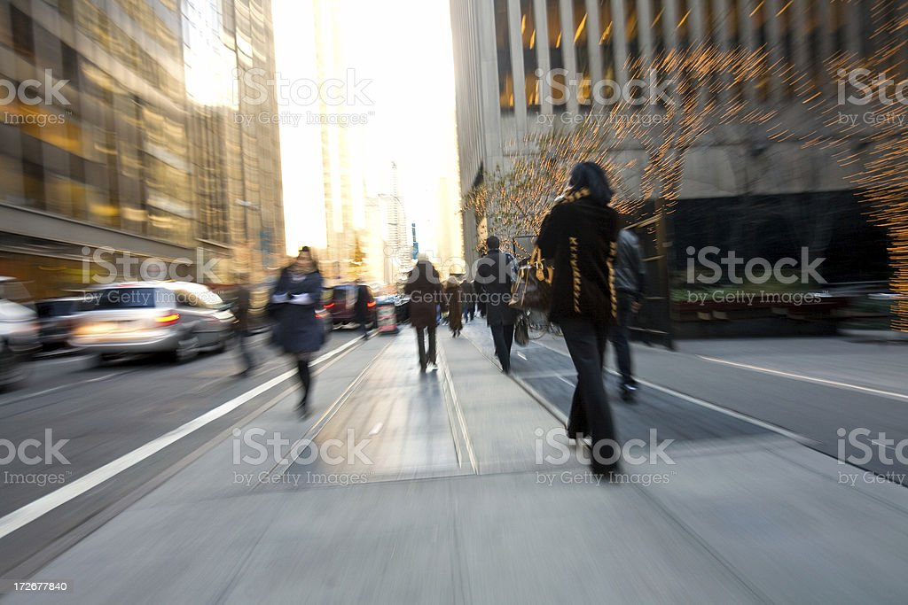 businesspeople walking royalty-free stock photo