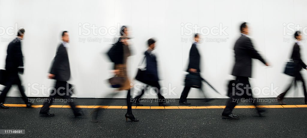 Businesspeople Walking to Work royalty-free stock photo