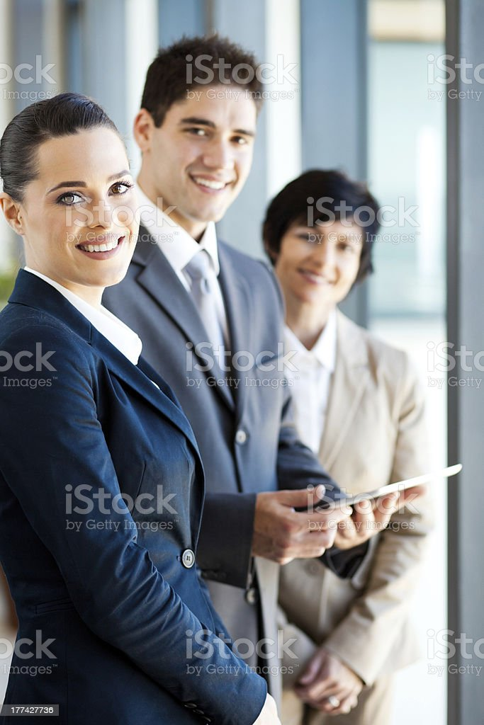 businesspeople with tablet computer royalty-free stock photo