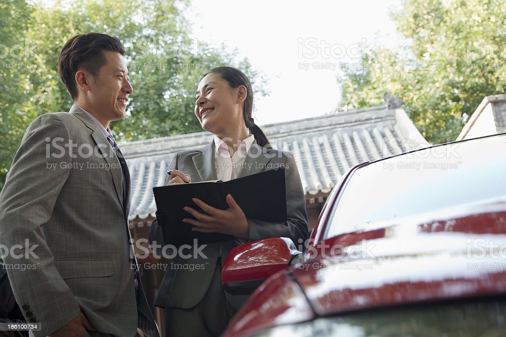 Businesspeople Working Outdoors royalty-free stock photo