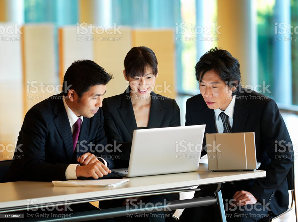 Businesspeople Working Together at the Office royalty-free stock photo