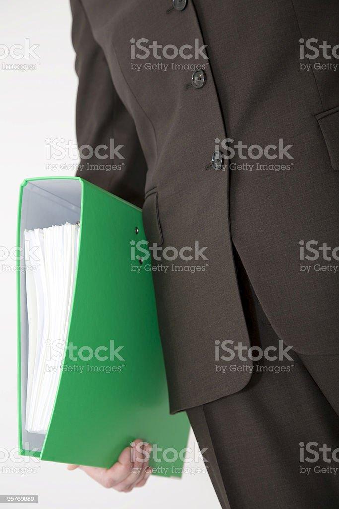Businessperson Holding File Folder royalty-free stock photo