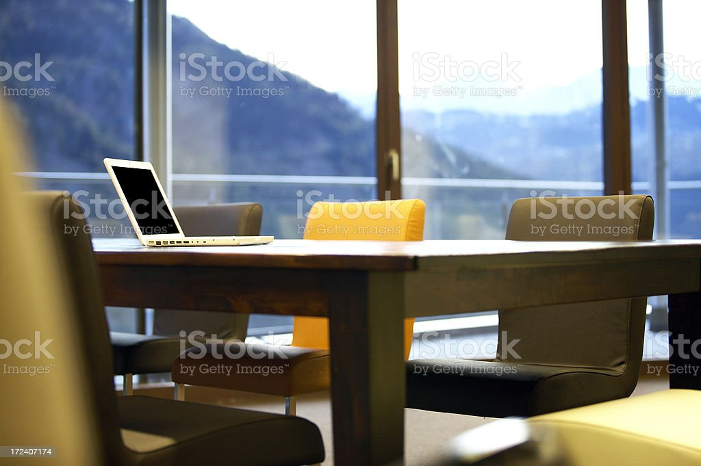 businessroom with laptop royalty-free stock photo