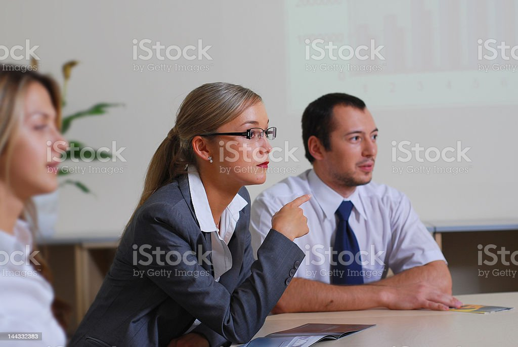Business-team at a meeting in office royalty-free stock photo