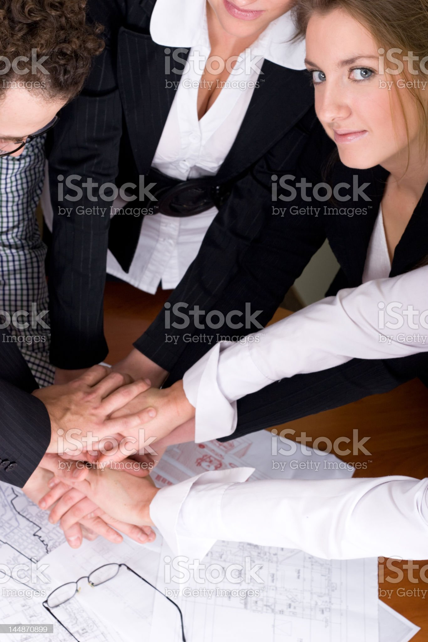 Businessteam at a meeting - new project royalty-free stock photo