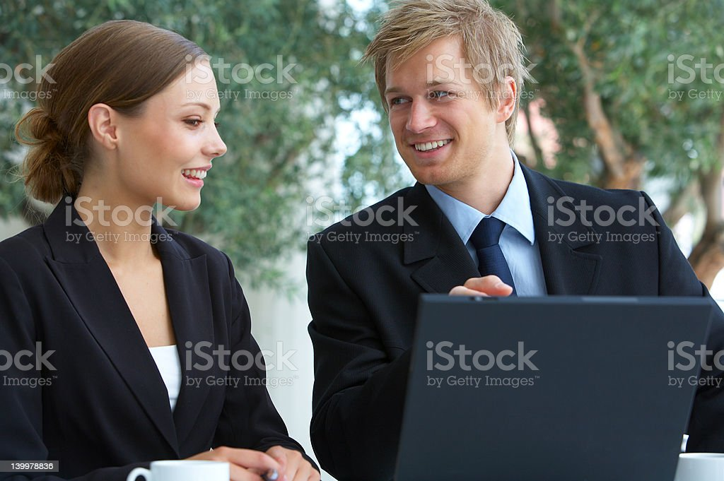 Businessteam at a meeting royalty-free stock photo