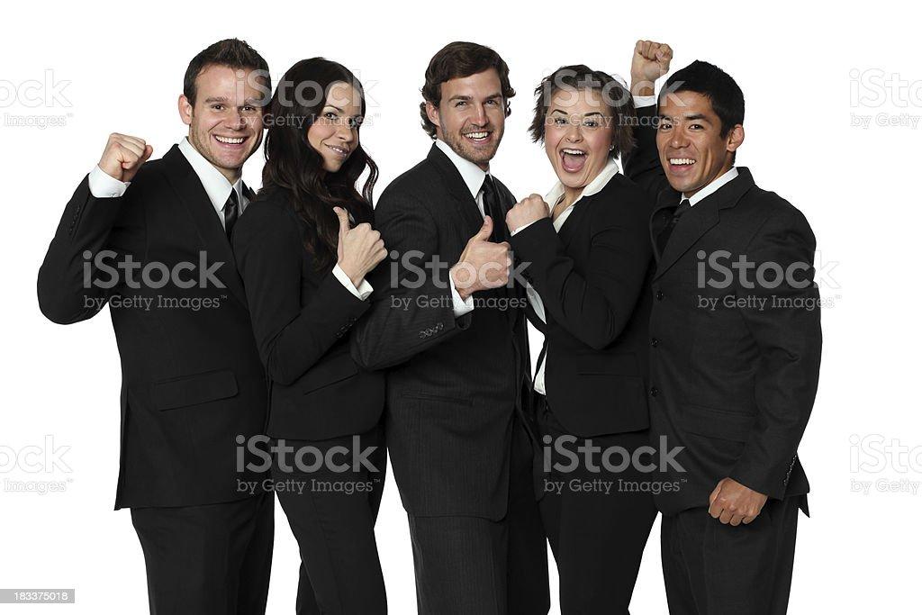 Businessteam cheering royalty-free stock photo