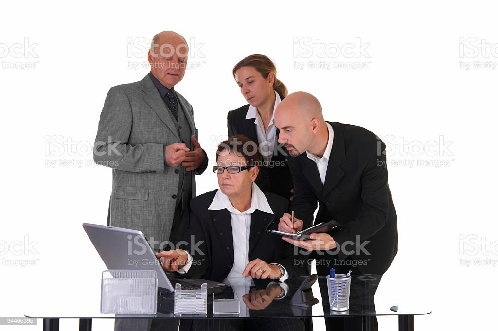 businessteam concentrated at work stock photo
