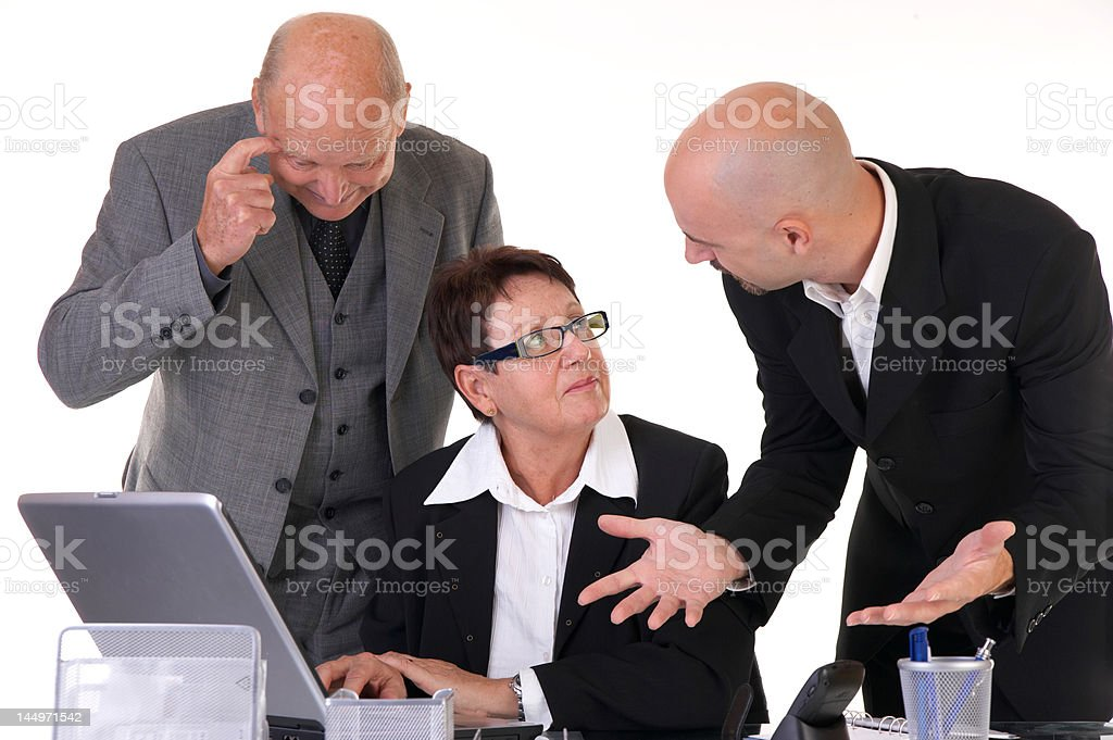 businessteam in discussion royalty-free stock photo