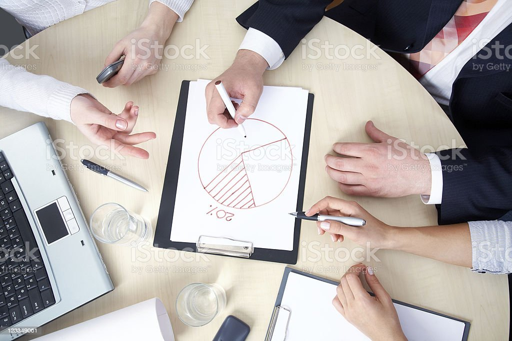 businessteam in work royalty-free stock photo