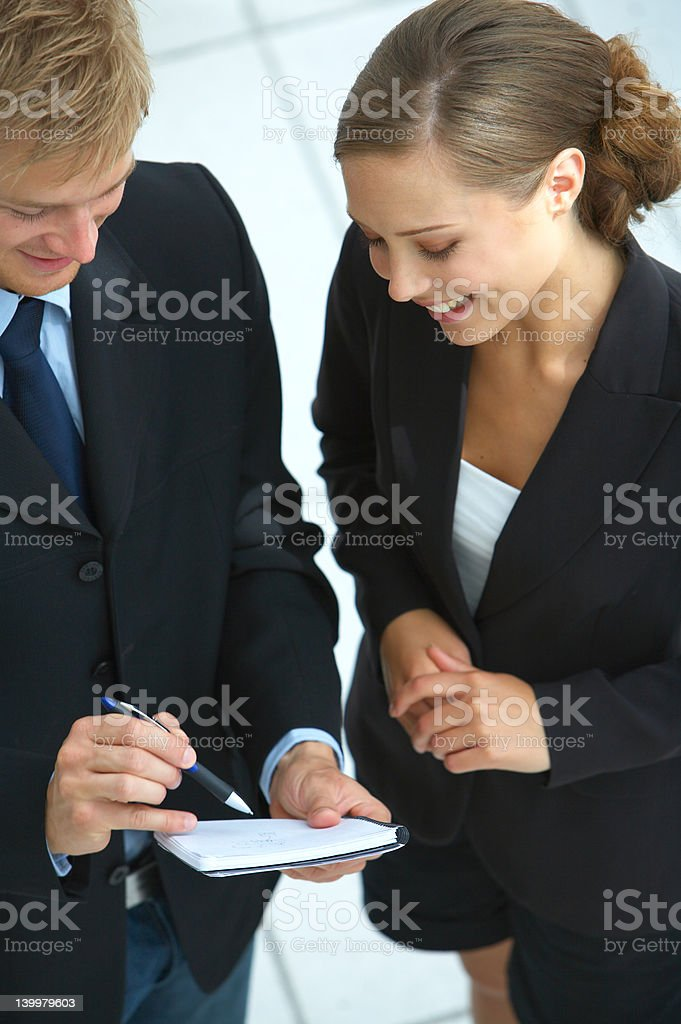 Businessteam planning royalty-free stock photo