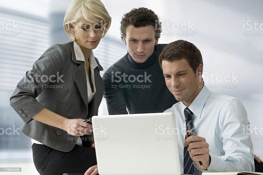 Businesstrio royalty-free stock photo