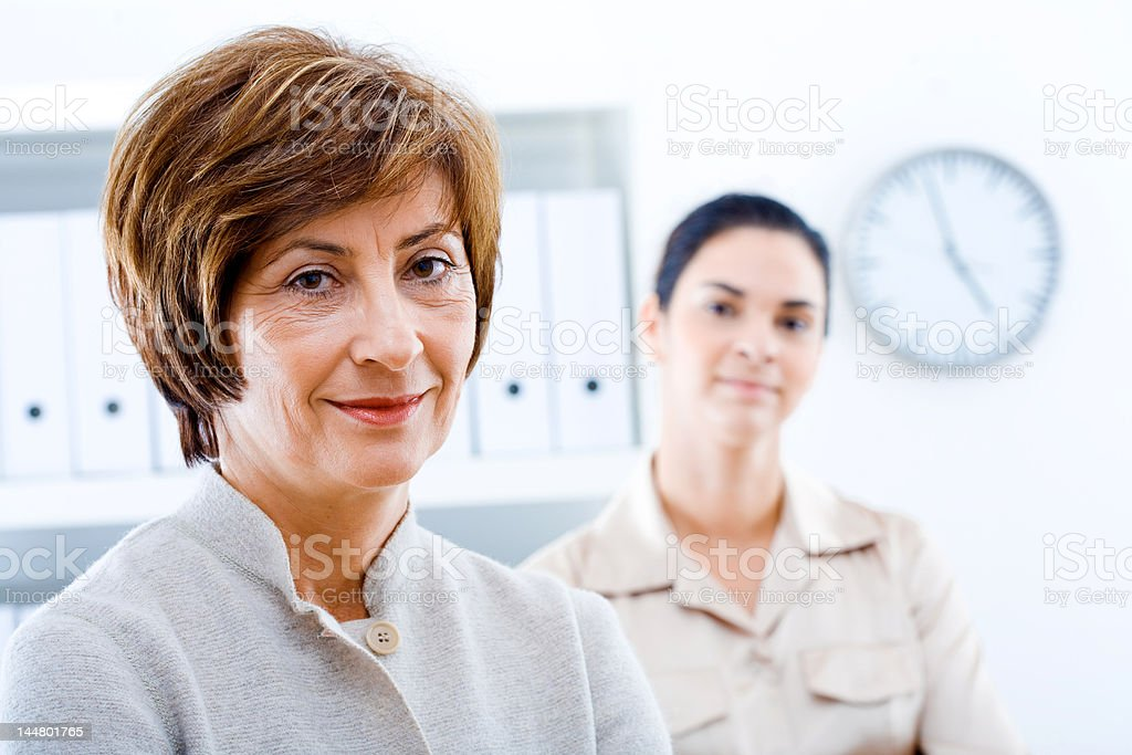 Businesswoman and assistant royalty-free stock photo