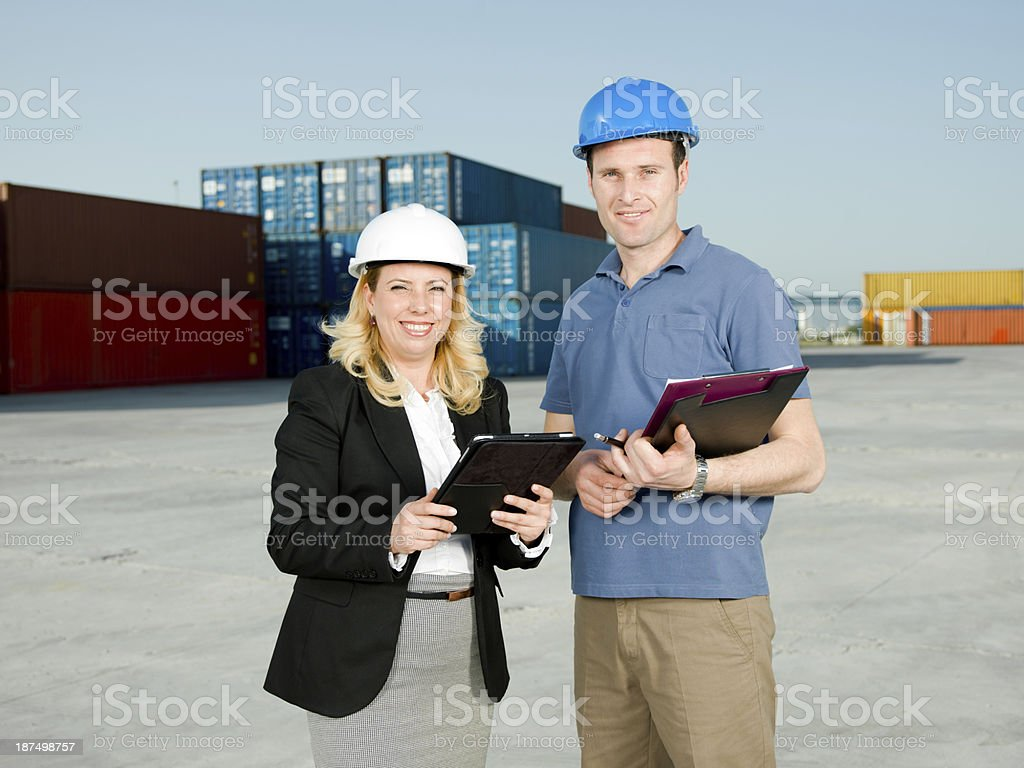 Businesswoman and Engineer royalty-free stock photo