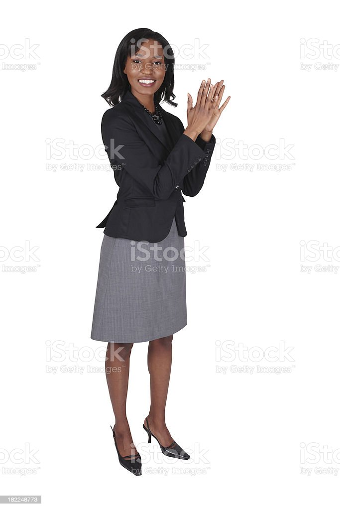 Businesswoman appluding royalty-free stock photo