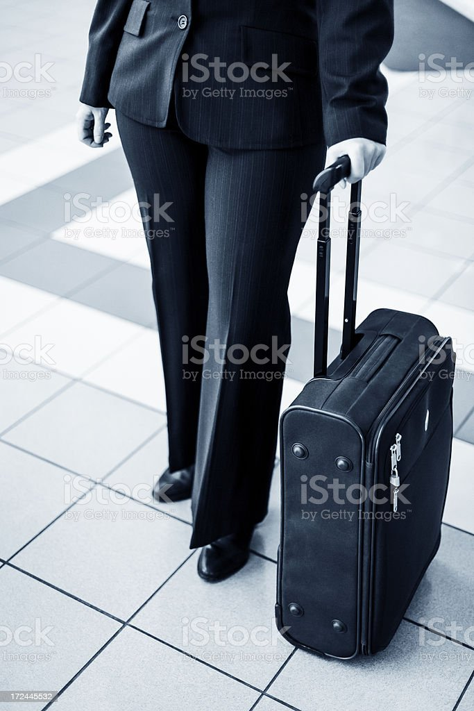 Businesswoman arriving at the hotel royalty-free stock photo