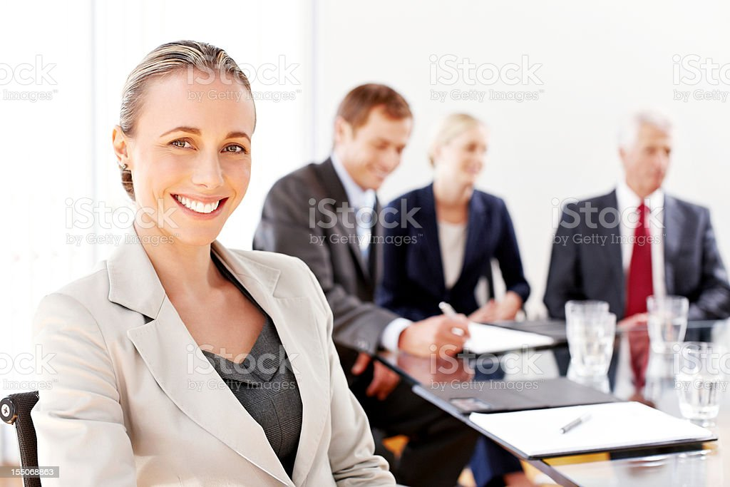 Businesswoman at a Business Meeting royalty-free stock photo