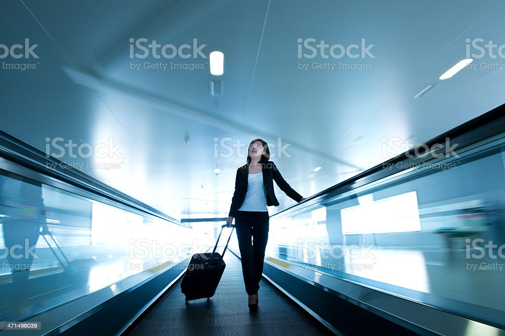 businesswoman at airport royalty-free stock photo