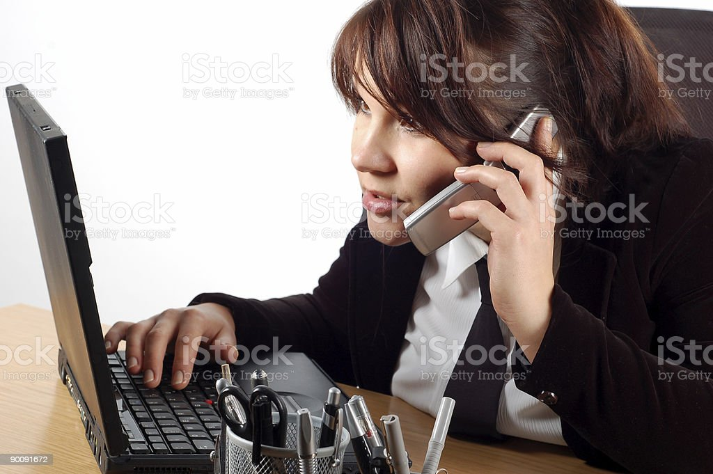 businesswoman at desk #15 royalty-free stock photo