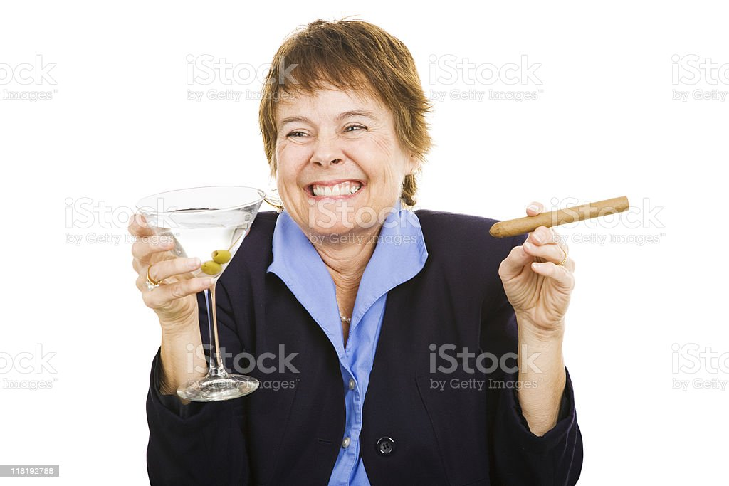 Businesswoman at Happy Hour royalty-free stock photo