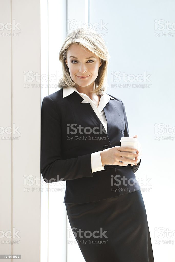 Businesswoman At Her Coffee Break royalty-free stock photo