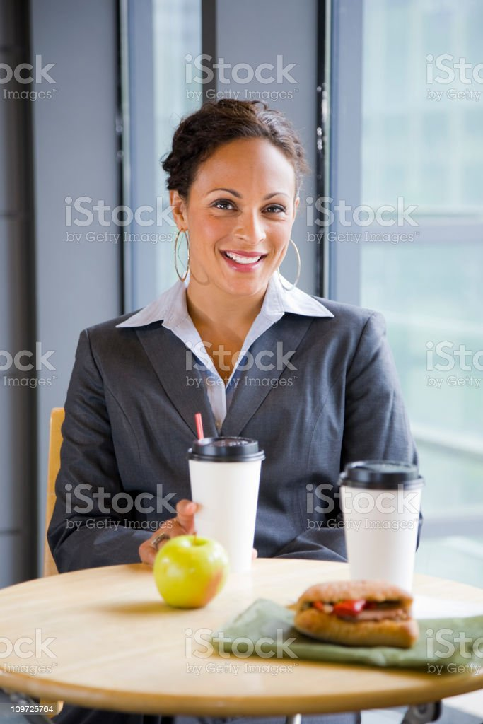 Businesswoman at Lunch royalty-free stock photo